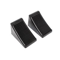 "MaxxHaul 50011 Rubber Wheel Chock with Eyelet (6-1/2"" x 3-3/4"" x 4""), 2 Pack"