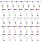 Sunco Lighting WiFi LED BR30 Smart Bulb, 8W, Color Changing (RGB & CCT), Dimmable, 650 lm, No Hub Required, Compatible with Various Smart Home Devices - 36 Pack
