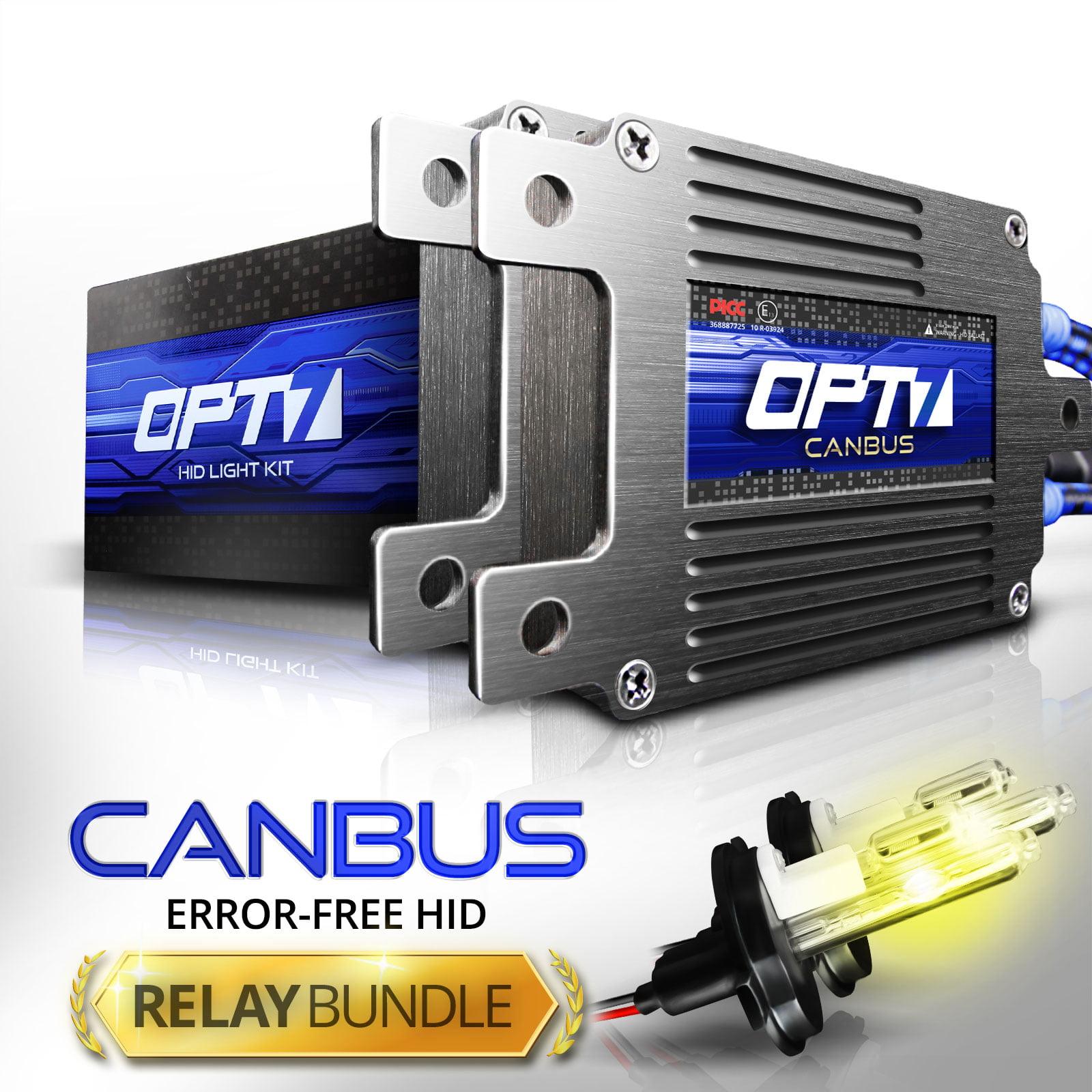 Boltzen AC 55w CanBUS HID Kit w/ Relay & Capacitors Bundle H11 [6000K Lightning Blue] 2 Yr Warranty