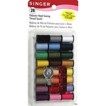Singer Polyester Thread, Assorted Colors, 24 Spools Assorted Thread 12 Spools