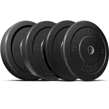 Titan 230 lb Set of Olympic Bumper Plates Benchpress Strength Training Power
