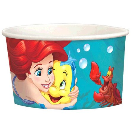 Ariel the Little Mermaid 'Dream Big' Ice Cream Cups (8ct)