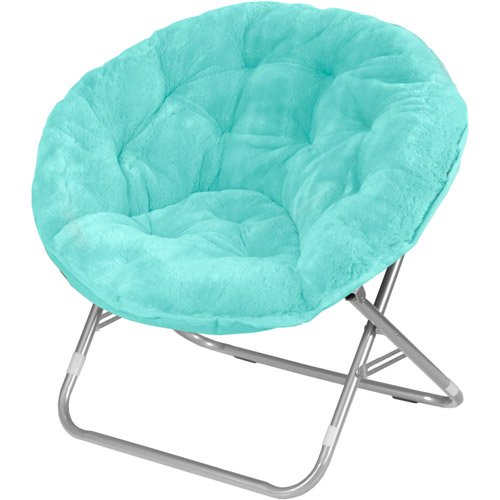 Mainstays Faux Fur Saucer Chair, Multiple Colors