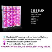 1 PACK 45W LED Grow Light Full Spectrum Panel Hydro Veg Flower Indoor Plant Lamp