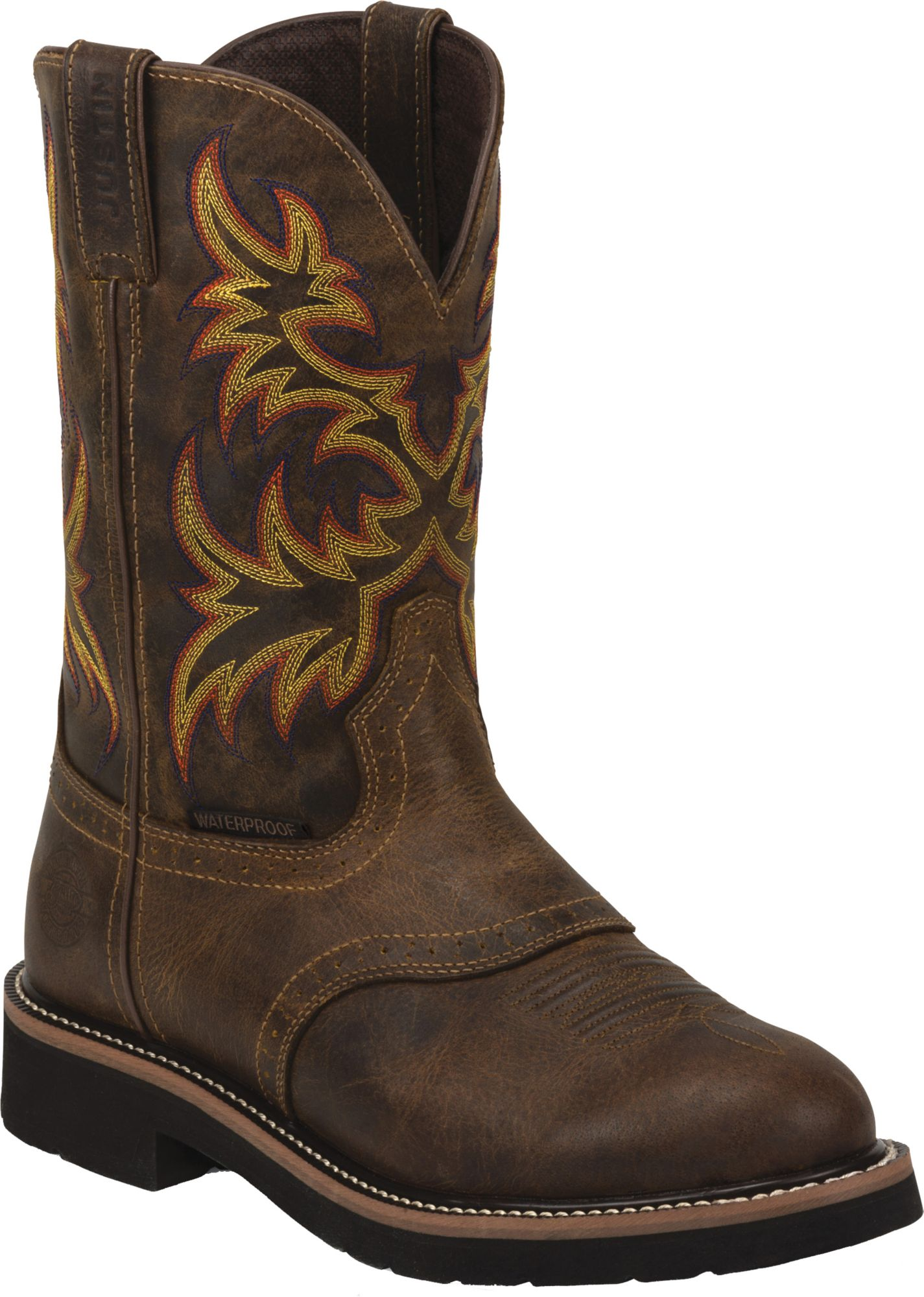 Justin Boots Justin Men S Rugged Tan Stampede Waterproof