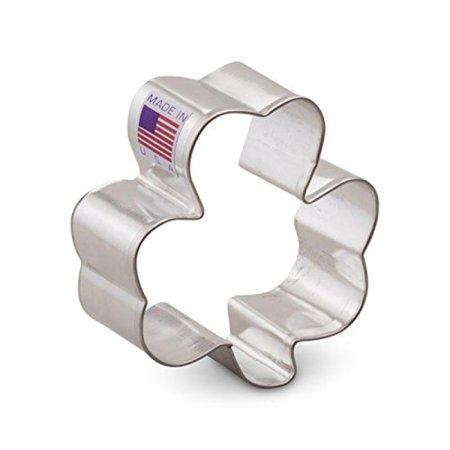 - Ann Clark Shamrock Cookie Cutter - 2.5 Inches - Tin Plated Steel