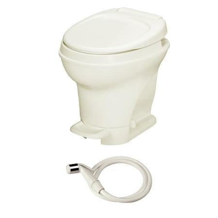 Aqua Magic V RV Toilet Pedal Flush with Hand Sprayer / High Profile ...