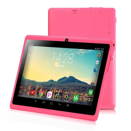 New Arrival Upgraded Version Irulu 7  Android 6 0 Quad Core Dual Camera 8Gb Tablet Pc Google Gms  Pink