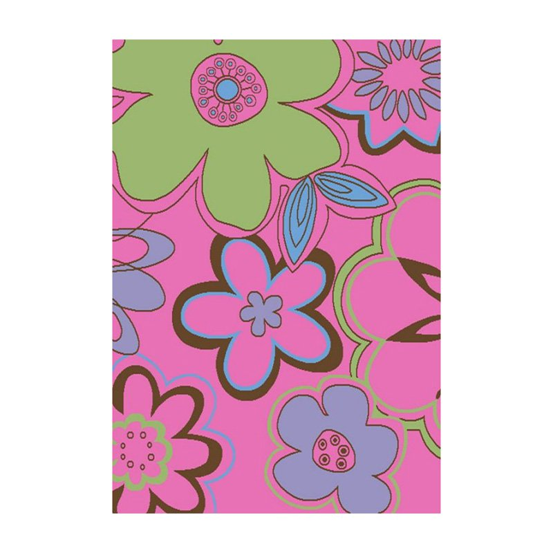 Concord Global Imports Alisa Groovy Flowers Kids Area Rug