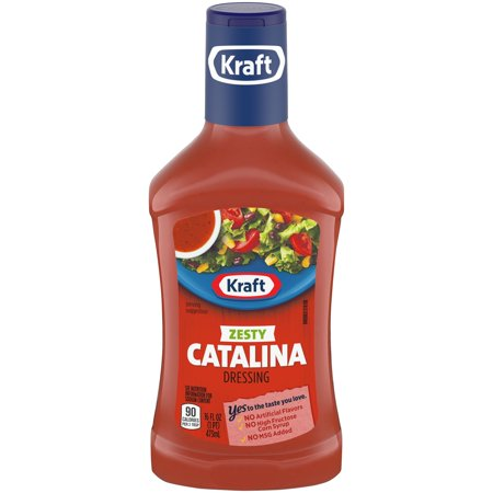 (3 Pack) Kraft Zesty Catalina Dressing, 16 Fl Oz Bottle