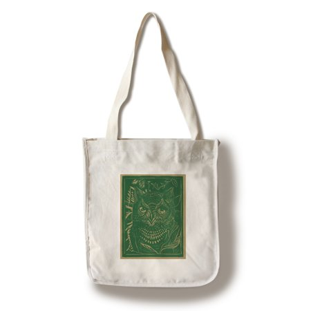 Nature Magazine - View of a Horned Owl in the Bushes (100% Cotton Tote Bag - Reusable) (Clothes Magazines)