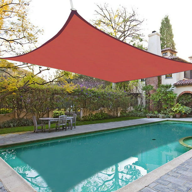 Yescom 16'x16' Square Sun Shade Sail UV Blocking Top Canopy Cover Red