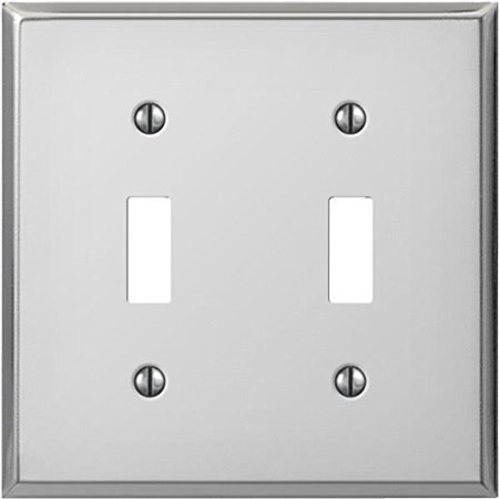Deerfield 8CS102 Pro-Plate Steel Double Toggle Wall Plate, Chrome Finish, It is Pro-Plate Chrome Steel Double Toggle Wall Plate By Jackson