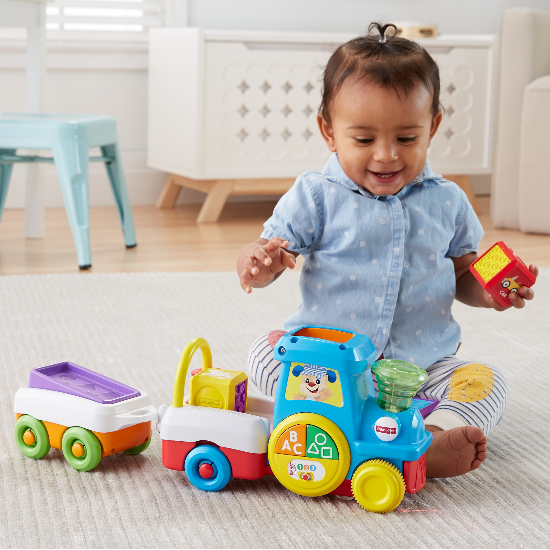 Fisher-Price Laugh & Learn First Words Crawl-Along Train ...