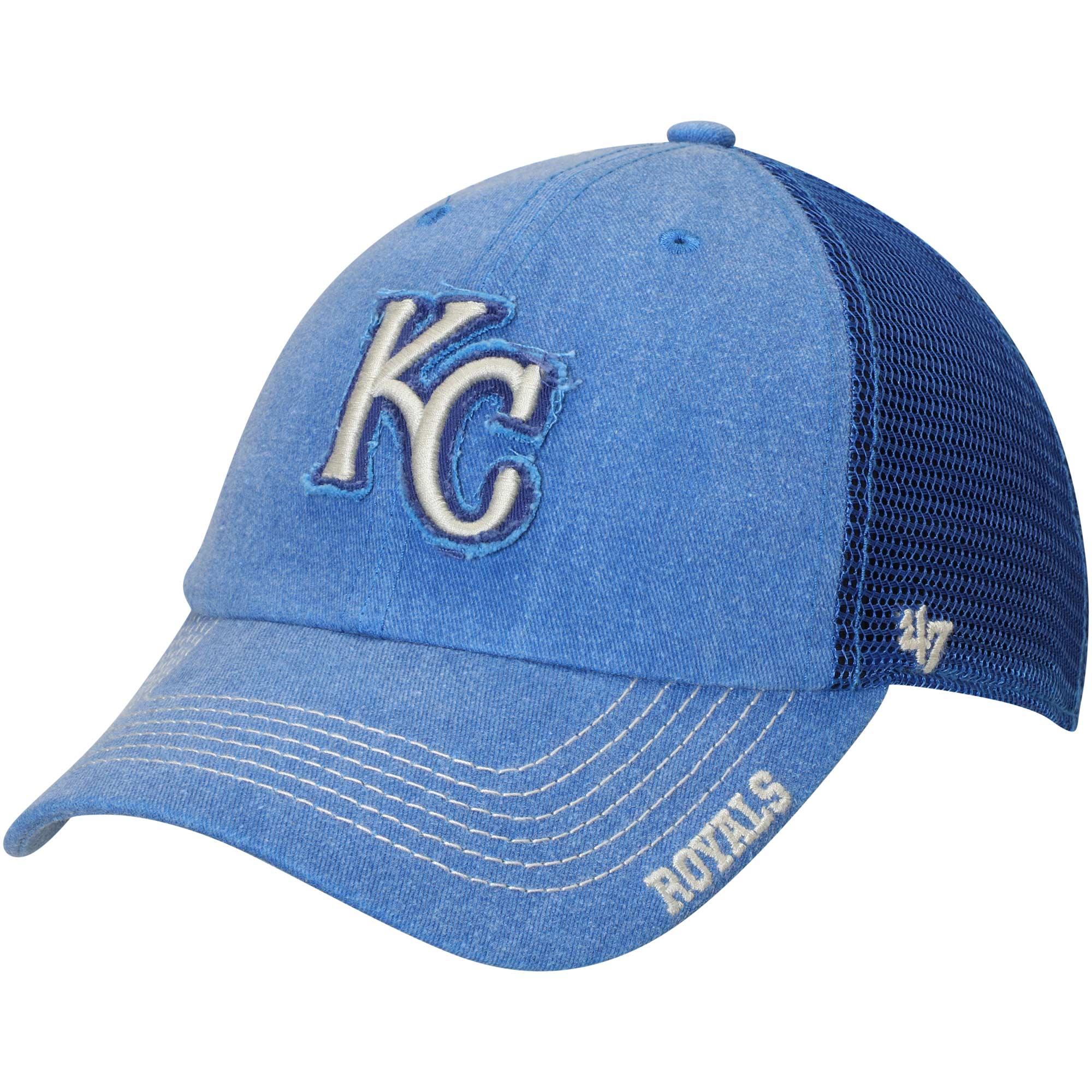 Kansas City Royals '47 Burnstead Clean Up Trucker Adjustable Hat - Royal - OSFA