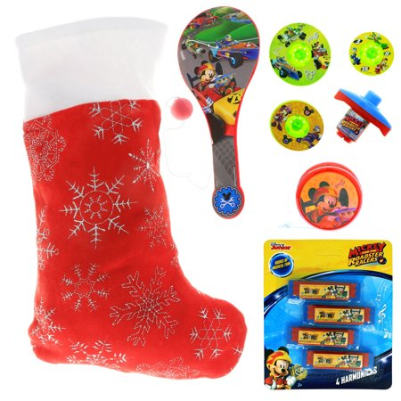 Disney Mickey Mouse Kids Holiday Stocking Bundle Pre-filled Toys and Gifts](Kids Stocking)