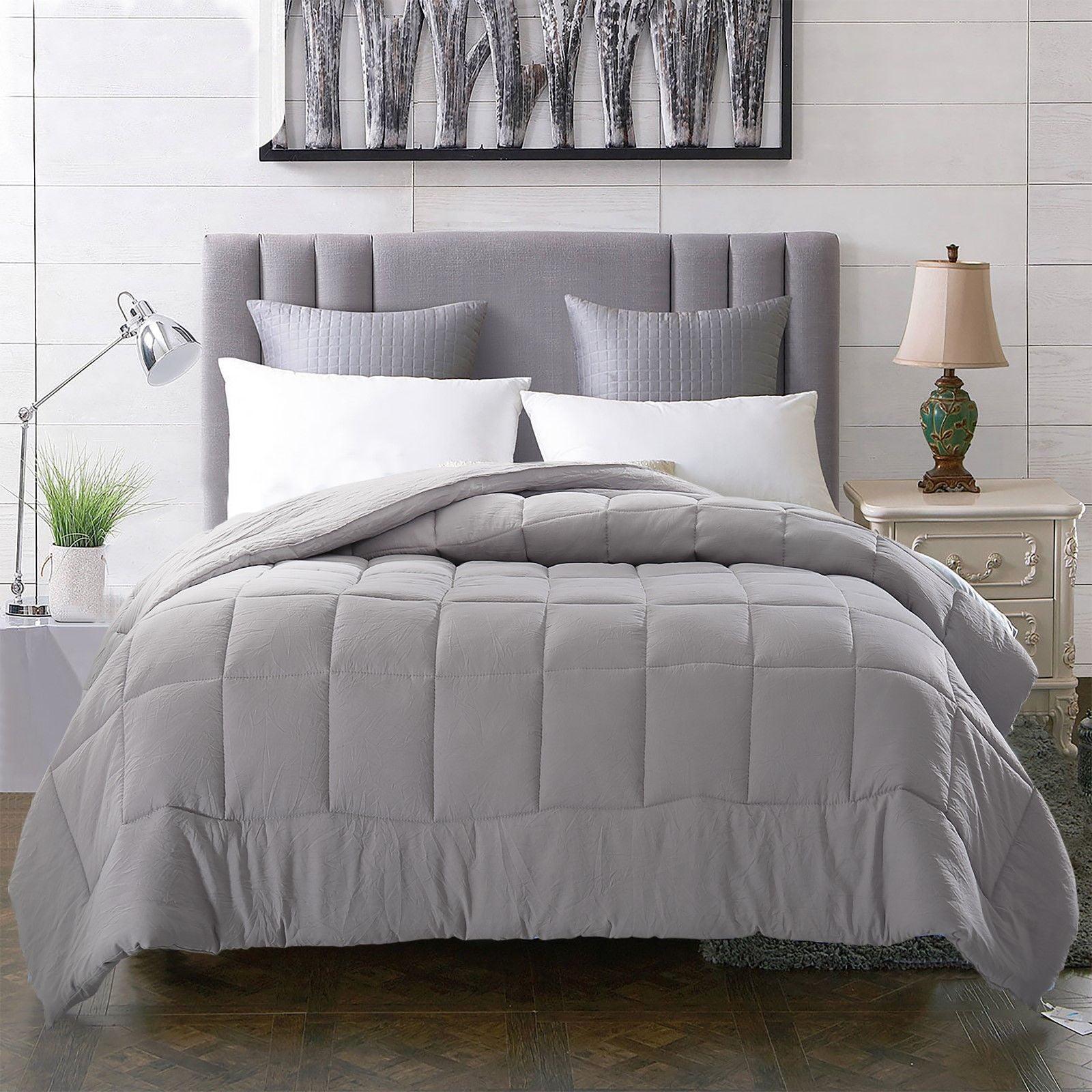 Evolive All Season PreWashed Microfiber White Goose Down Alternative Comforter