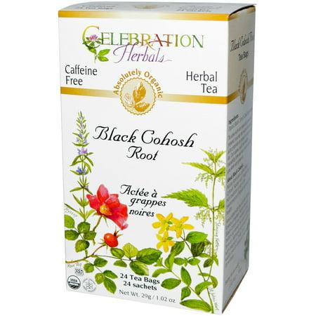 Celebration Herbals Tisane bio caféine Actée Racine 24 sacs de thé à base de plantes