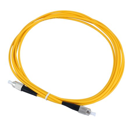 Single Mode FC to FC Fiber Optic Jumper Cable Yellow 2.9M 9/125 Micron Gimbe