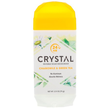 Crystal Crystal Deodorant Solid Stick Chamomile & Green Tea 2.5 Ounce, Pack of 2