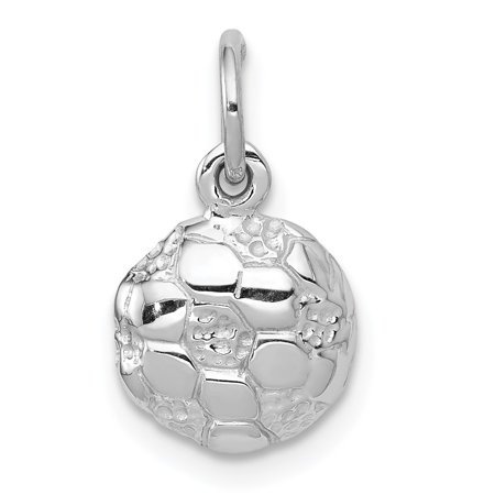 14k White Gold Soccer Ball Pendant Charm Necklace Sport Gifts For Women For (14k White Gold Soccer Ball)