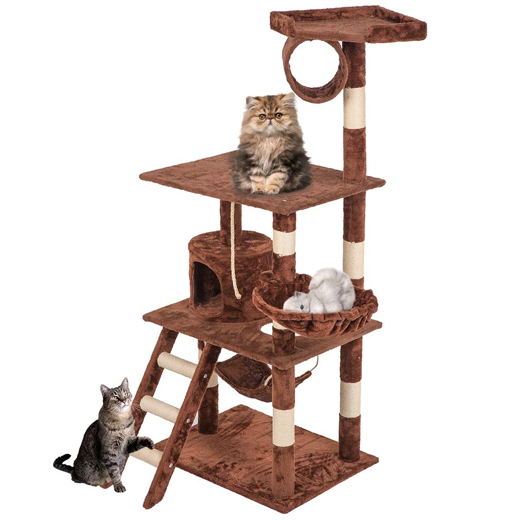 """Cat Tree Tower Condo Furniture Scratch Post Kitty Pet House Tree 64"""" Beige by"""