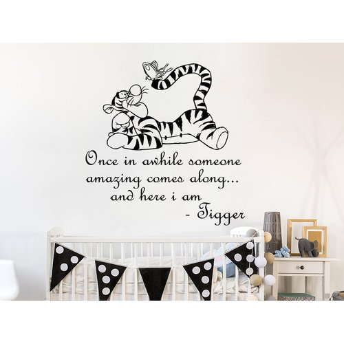 Zoomie Kids Hegarty Winnie the Pooh Tigger Wall Decal