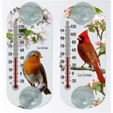 La Crosse Technology 204-15201 Window Thermometers Bird Variety Pack - 6 Pack ()
