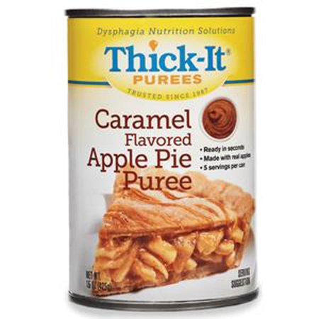 Kent Precision Foods Group Thick-It Caramel Flavored Apple Pie Puree 15 oz-Case of 12