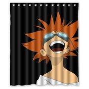 DEYOU Begift Cowboy Bebop Edward Shower Curtain Polyester Fabric Bathroom Shower Curtain Size 66x72 inch by DEYOU