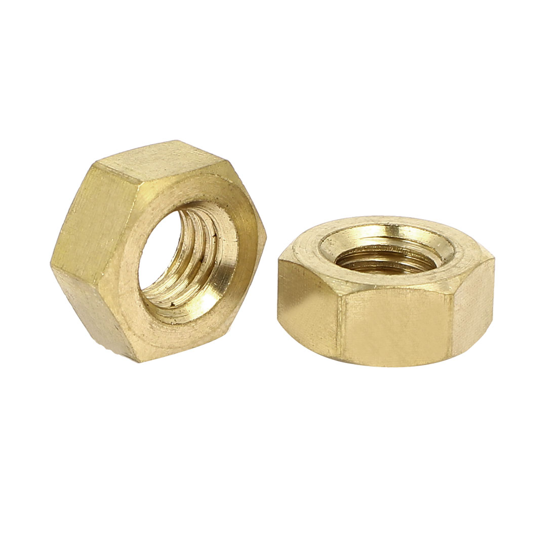 M10 Brass Finished Metric Hex Nut Fastener Brass Tone 10pcs - image 1 of 2