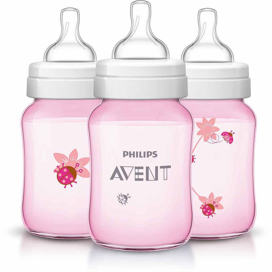 Philips AVENT Classic 9oz Bottle, , 3-Pack, BPA-Free (Choose Your Pattern)