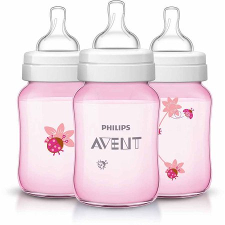 Philips Avent Classic 9Oz Bottle    3 Pack  Bpa Free  Choose Your Pattern