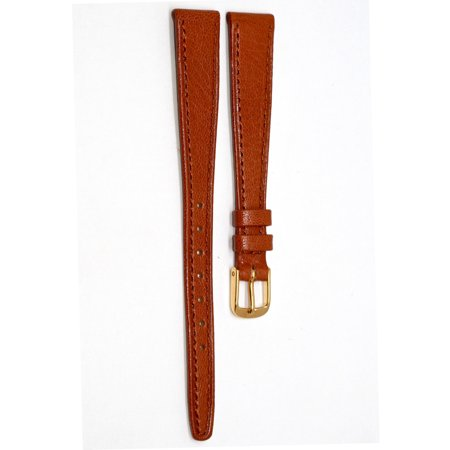 13MM BROWN STITCHED TAPERED GENUINE GOAT LEATHER WATCH BAND STRAP FITS (Genuine Goat)