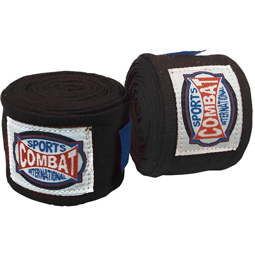 Combat Sports Semi-Elastic Handwraps, Black, 10pk