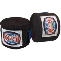 Combat Sports Semi-Elastic Handwraps - 10 Pack Black