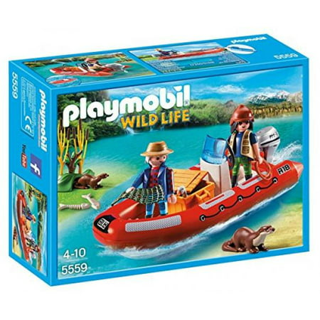 Playmobil Adventure Bundle with Explorers & Inflatable Boat Building Kit and Gem Hunter Playset