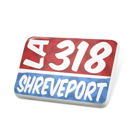 Porcelein Pin 318 Shreveport, LA red/blue Lapel Badge – NEONBLOND](Party City In Shreveport La)