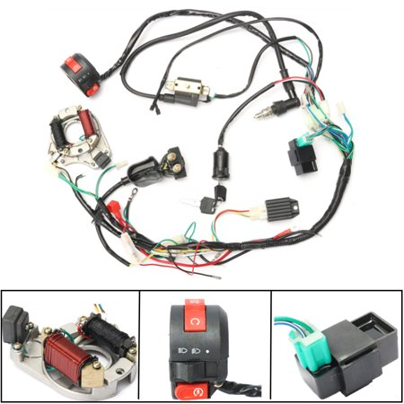 1 Set Wire Harness enginepart Wiring CDI embly for 50/70/90/110cc/125cc New Cc Cc Wiring Harness on