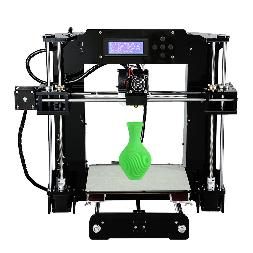 3d Printer DIY Kit ANET A6 Aluminium Structure with Large 3D Printing Size High Accuracy and stability Heated Bed LCD Display
