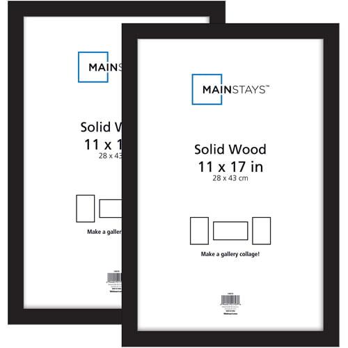 Mainstays Ms Black Frame 11x17 2pk - Walmart.com