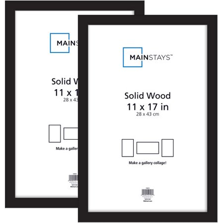 Mainstays 2pk 11x17 Picture Frame Black Walmart