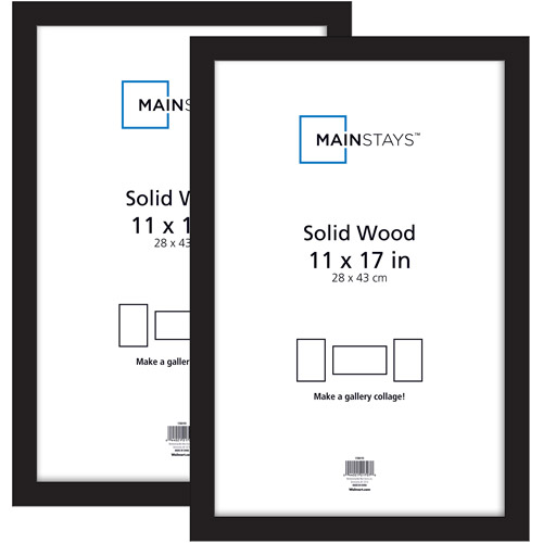 mainstays 2pk 11x17 picture frame, black - walmart
