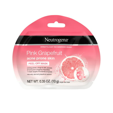 (2 pack) Neutrogena Pink Grapefruit Acne Prone Skin Peel-Off Face Mask, 1 ct - Funny Face Mask
