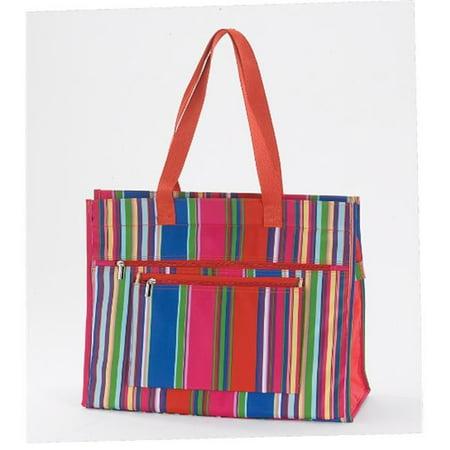 Joann Marrie Designs Nptors Insulated Tote Bag   Orange Stripe  44  Pack Of 2