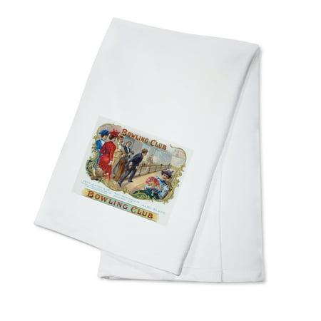 Bowling Club Brand Cigar Box Label - Bowling (100% Cotton Kitchen Towel)