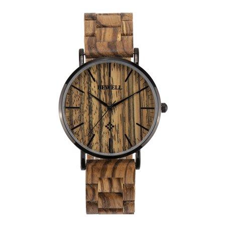 BEWELL ZS-W163A Quartz Man/Women Optional Ultra Thin Wood Luxury Watch Brand Fashion Gift for Father Friend Dress Style Good Quality Wristwatch ()