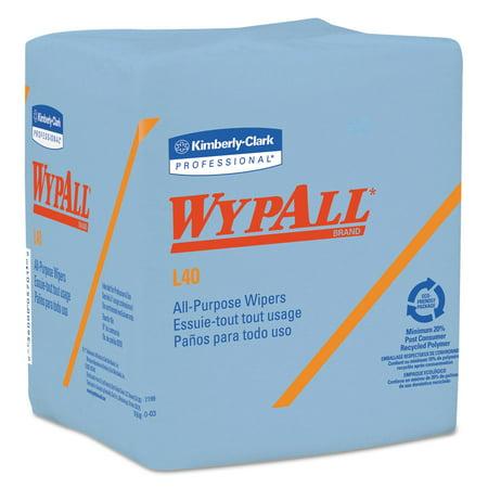 WypAll L40 Wiper, 1/4 Fold, Blue, 12 1/2 x 12, 56/Box, 12 Boxes/Carton -KCC05776