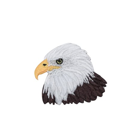 American Bald Eagle Head - Bird - Iron on Applique/Embroidered Patch - T Birds Patch Grease