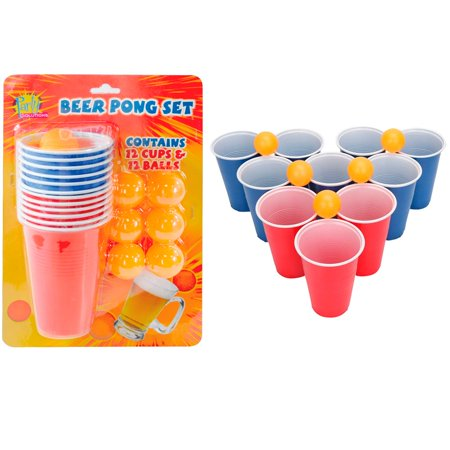 Beer Pong Set Drinking Game Party Cups Balls Drink Indoor Game Fun Beerpong - Party City Beer Pong Table
